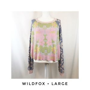 Wildfox Women's Large Cropped Thermal Shirt Pink